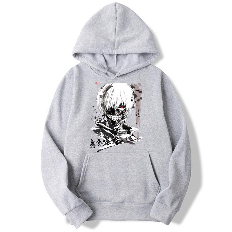 Asian Size Tokyo Ghoul Hooded Boys Felpe Felpe moda per uomo e donna giapponese Anime Classic Mwt091