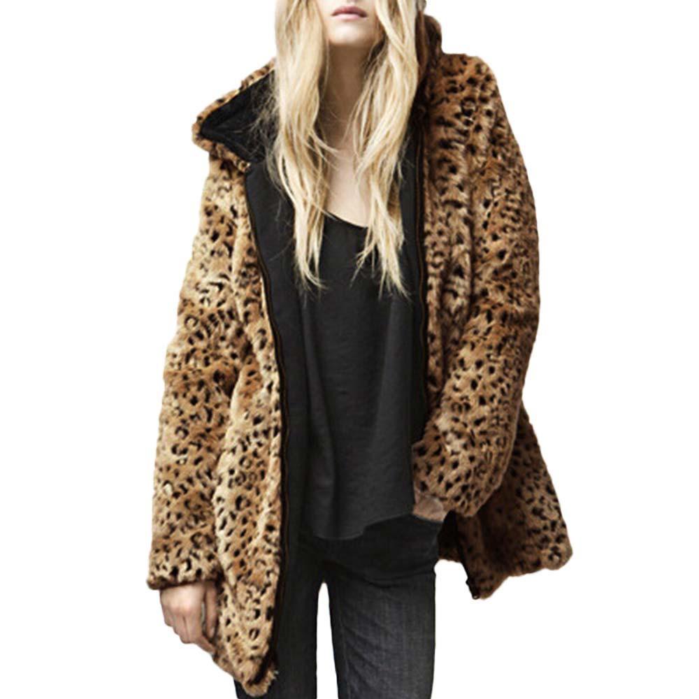 94973a40e7e Fashion Women Warm Vintage Animal Leopard Print Coat Faux Fur Zip Pocket  Outwear Jacket Outwear Plus Size XXXL Veste Femme  35 Women Leather Jacket  Warm ...
