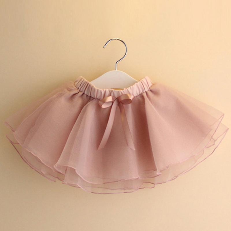 2ced2a056 2019 Primavera Y Verano Niñas Faldas Faldas Bebé Niña Falda Princesa Bailar  Mantón Ropa para niños Sólidas Chicas Faldas Para Niños