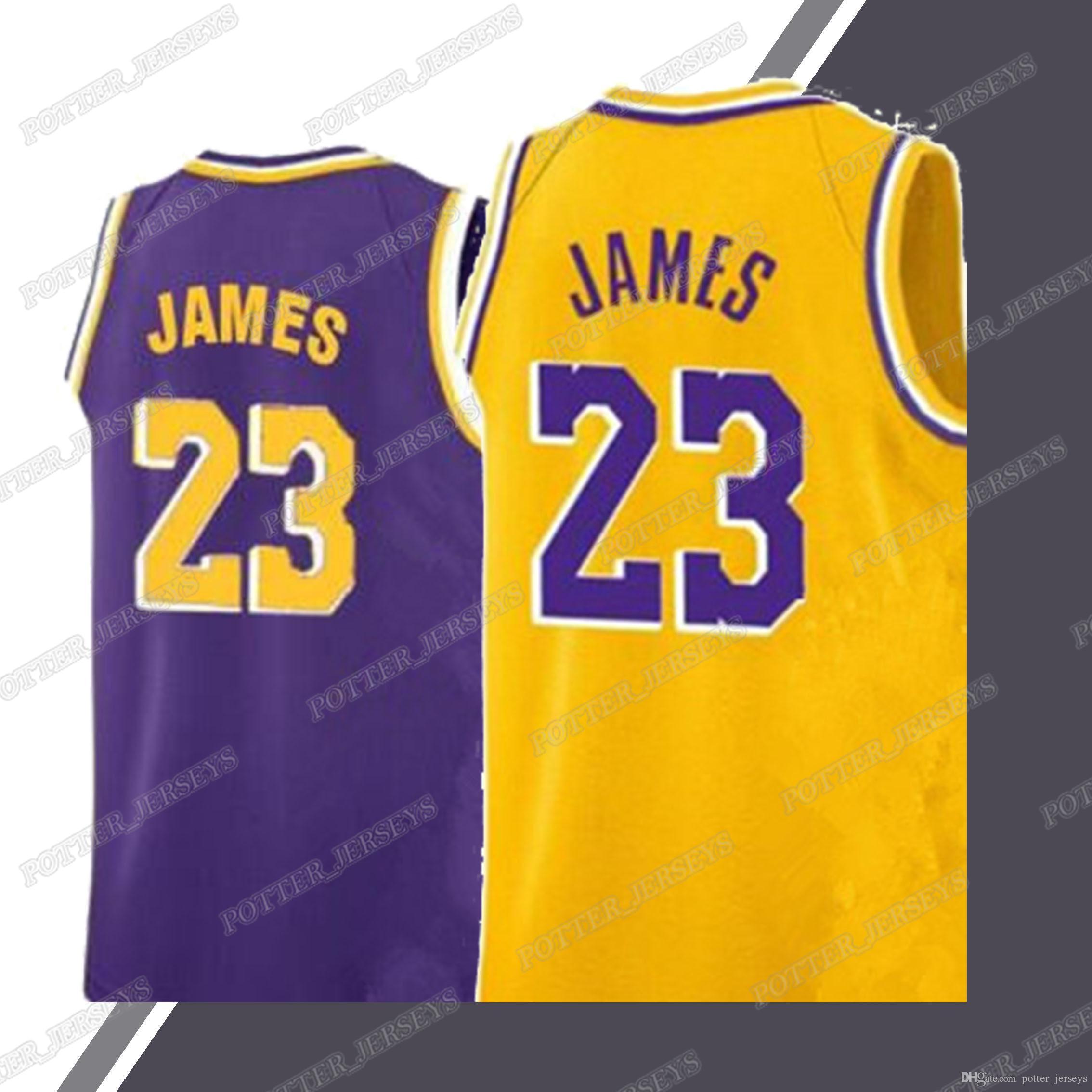 detailed look 56ca8 c0f8a Laker jerseys 23 LeBron James jersey 0 Kuzma 2 Ball 24 Bryant jerseys 2019  men basketball
