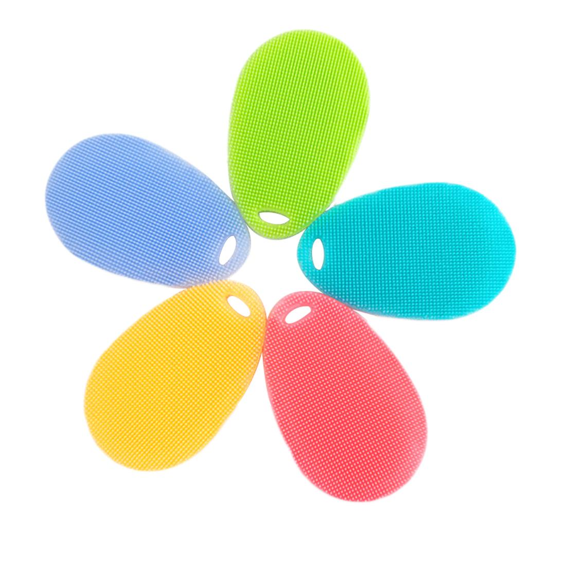 Hot Sale Silicone Brush Magic Dish Bowl Pot Pan Wash Cleaning Brushes Cooking Tool Cleaner Sponges Scouring Pads
