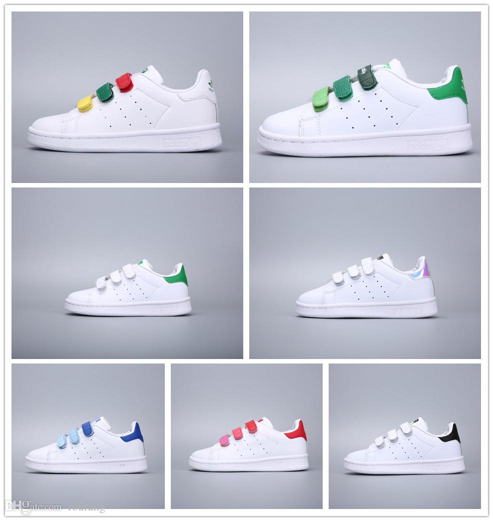 834ecf2d8e148 New 2018 Chaussures Scarpe Stan Smith Zapatos Girls Boys Classic Casual  Shoes Baby Kids Shoes Casual Leather Children Sport Sneakers Children  Superstar ...