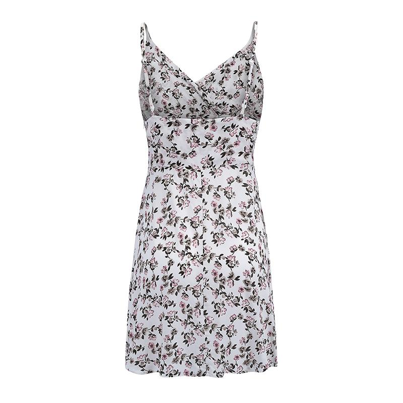 Summer Women Dress 2019 Sexy Off Shoulder Sleeveless Dress Retro Spaghetti Strap Floral Print Mini Dresses Boho Style