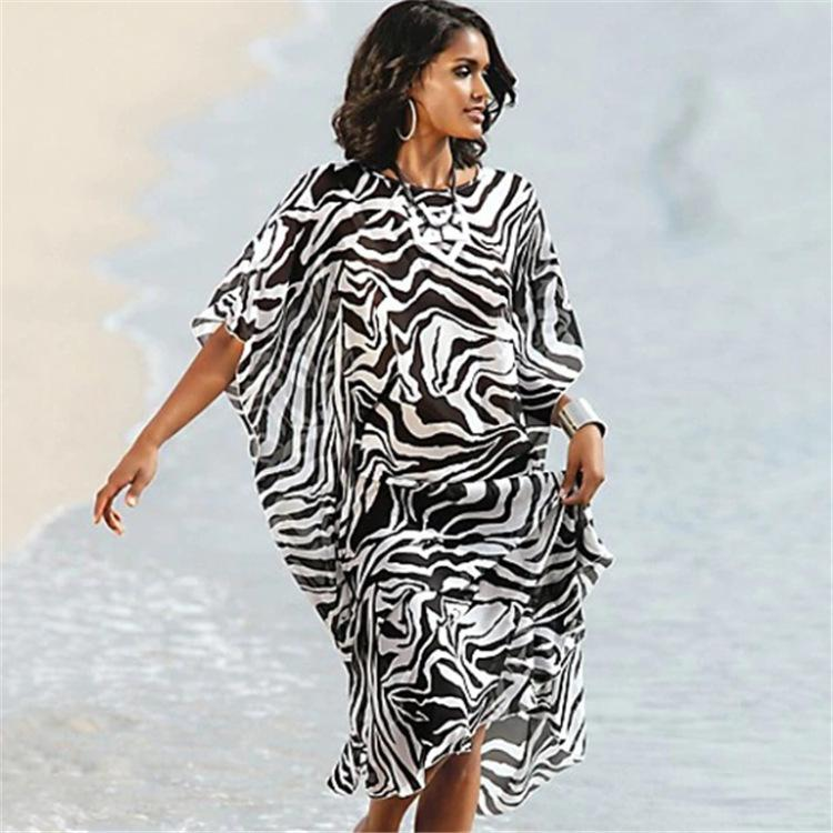 1888c2bfc3f14 2019 Saida De Beach Kaftan Swimwear Dress Cover Up Tunics Woman ...