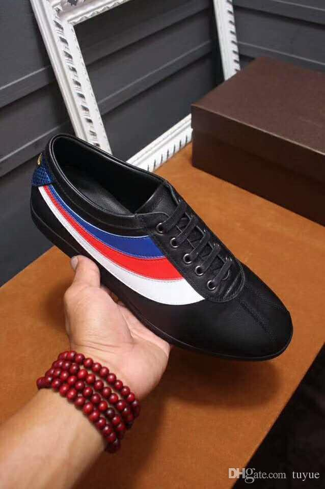 321241831b0 Designer Brand Low Top Casual Shoes Falacer Patent Leather Grosgrain Trim  Embroidered Bee For Men Running Shoes Shoes Online From Factoryoutlet003