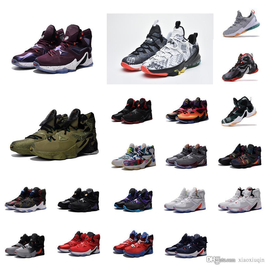release date 9988d c0f53 what the lebron 13 basketball shoes mens LMTD MVP Grey Christmas BHM Blue  Easter Halloween Akronite White Red DB USA sneakers boots with box