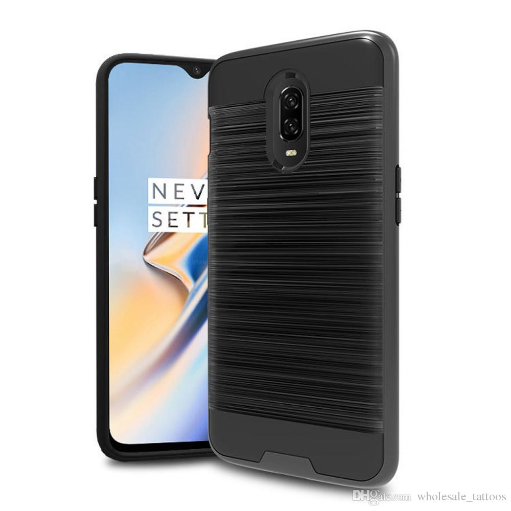 For Huawei Y7 2019 Y7 PRO 2019 Y7 PRIME 2019 2 In 1 Hybrid Brushed Armor  Case Anti Drop Impact Protective Soft TPU Hard PC Back Cover