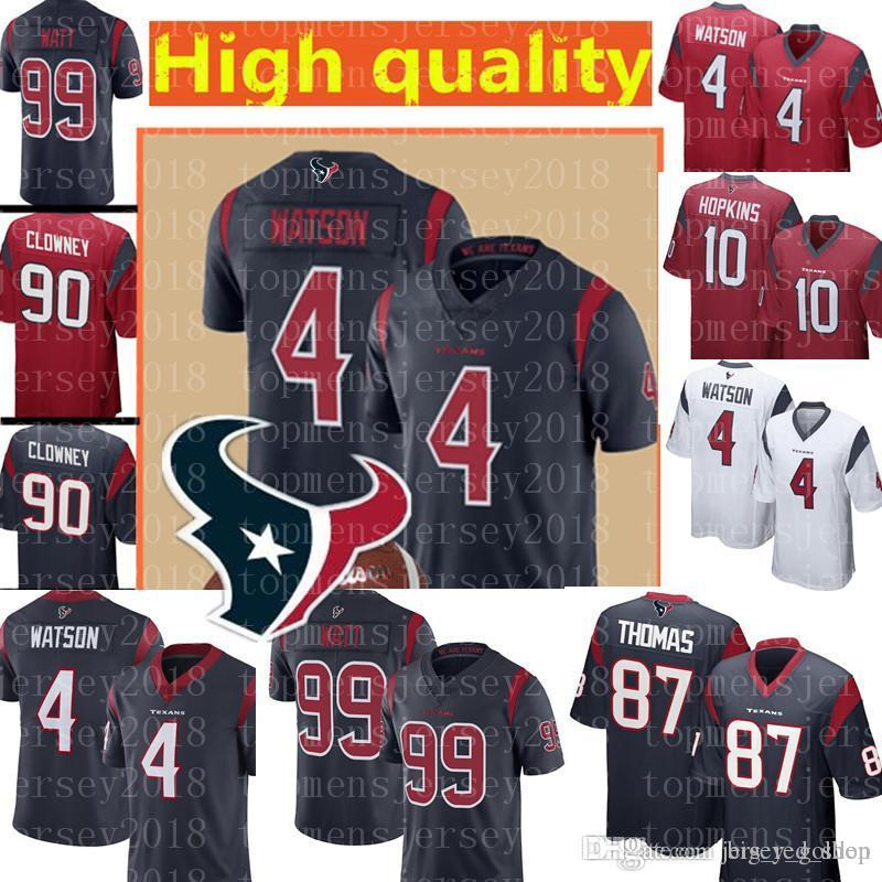 info for f2531 6bce8 2019 Houston 4 Deshaun Watson Texans Jersey 99 J.J. Watt 87 Thomas Hopkins  32 Tyrann Mathieu 10 DeAndre Embroidery Football Jerseys