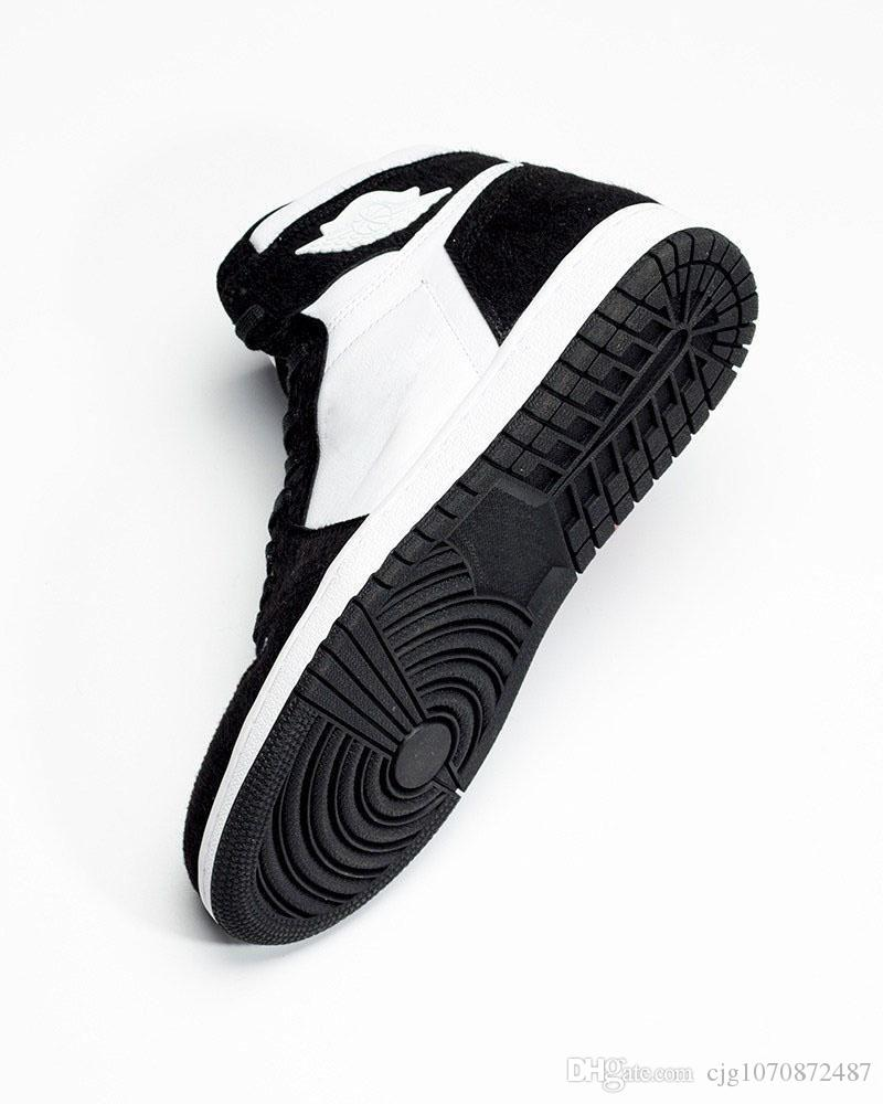 official photos 06458 ecd4d 2019 New Release Retro High OG Panda 1 Basketball Shoes Black Metallic Gold  White Air Men Women 1S Sports Sneakers CD0461 007 With Box US 5.5 8.5 From  ...