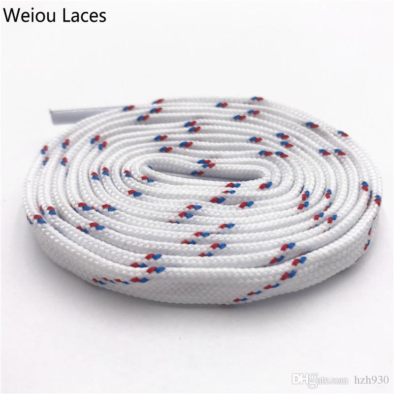 Weiou Classic 7mm Cool White Red Blue Flat Tublar Shoelaces Brand New Athletic Boots Laces For Men Lady Women Sports Sneakers