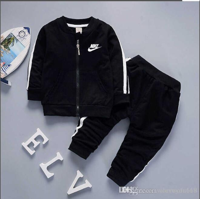 c8ca719316 2019 2019 Brand Baby Boys And Girls Tracksuits Kids Tracksuits Kids T  Shirts   Pants  Sets Kids Clothing Hot Sell New Fashion Summer.