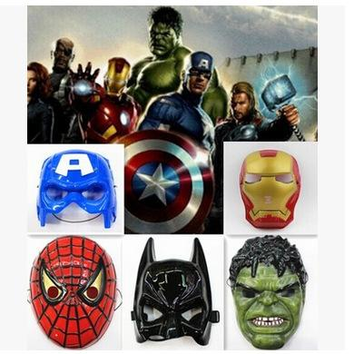 Superhero Halloween Mask for Kid & Adult Avengers Captain America Spiderman Hulk Iron Man Batman Star Wars Mask