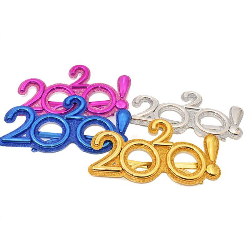 Funny 2020 Eyeglass New Year's Eve Glasses Eyewear Glitter Photo Prop Christmas