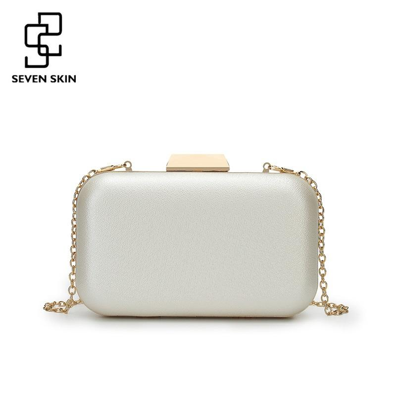 Steven Lock Mini Clutches Women Bag Solid Messenger Bags for Female Ladies Chains Shoulder Bags Evening for Party 2018