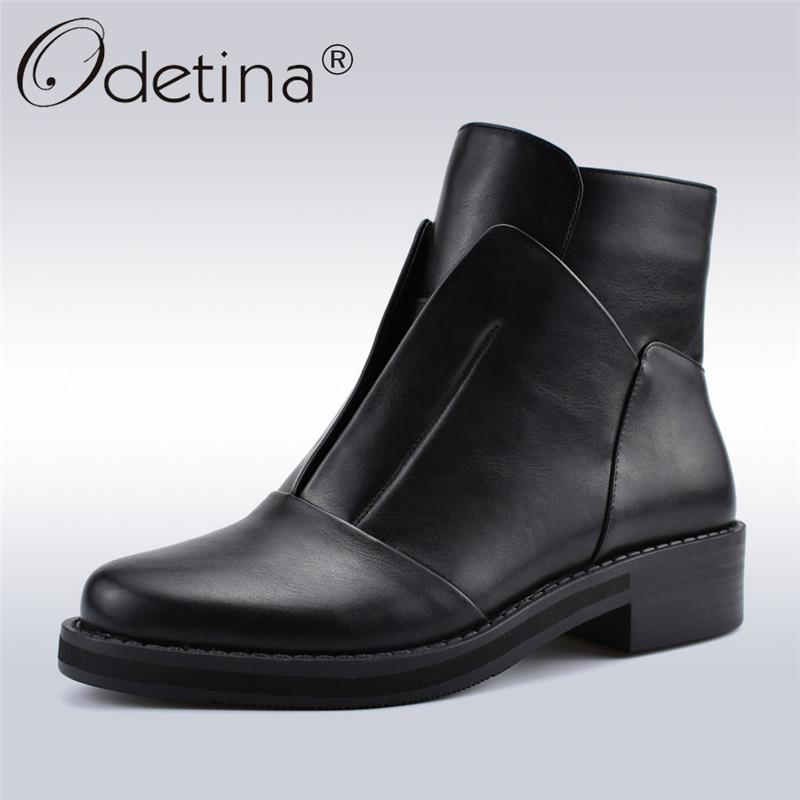 4fb8547e757 Odetina Antumn Winter High Quality Designer Women Boots Fashion ...