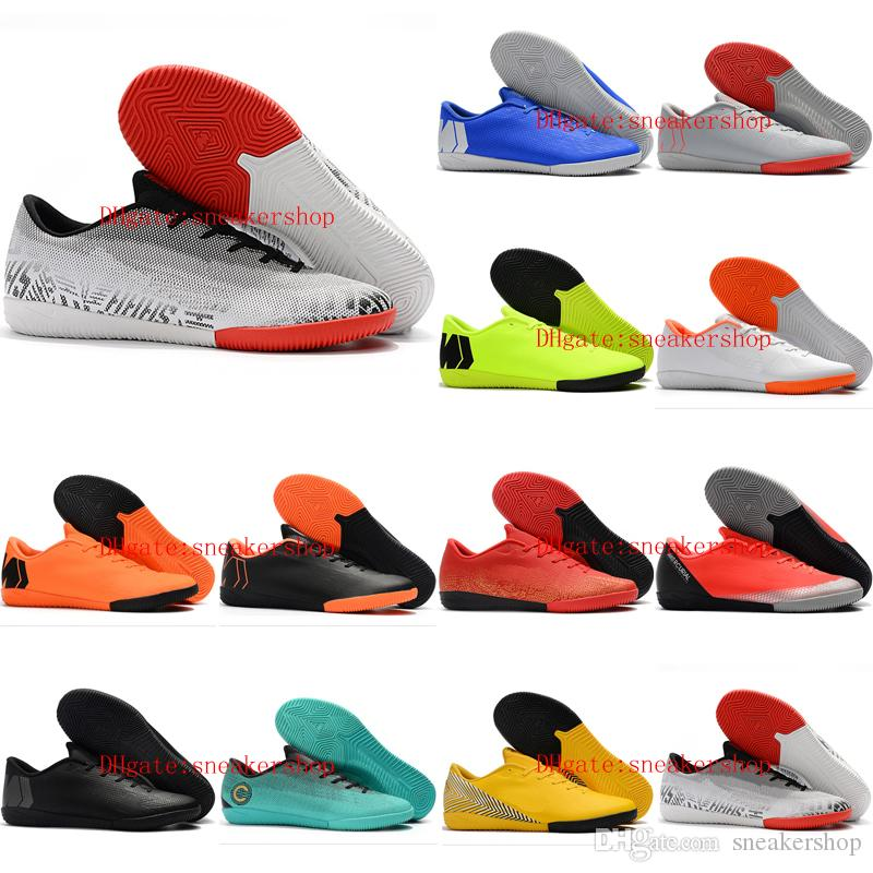 huge selection of 0a8aa 76883 2019 mens soccer shoes low Mercurial VaporX XII Academy IC soccer cleats  indoor CR7 football boots Mercurial Superfly scarpe da calcio