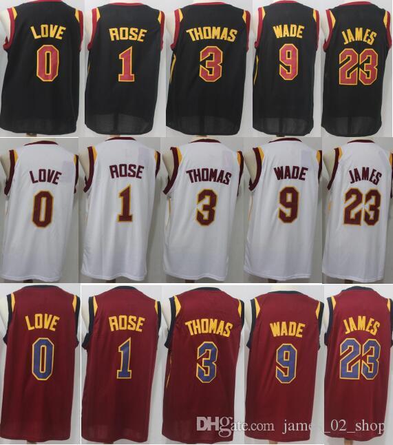 newest 7b08d c05c2 2018 2019 ClevelandCavaliers jerseys 23 LeBronJames 9 DwyaneWade 1  DerrickRose 3 IsaiahThomas 0 KevinLove shirts 100% Stitched jersey sale
