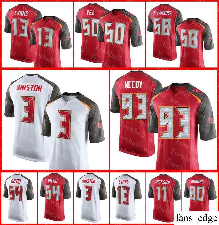 separation shoes 02a92 424d4 Mens Women Youth 80 O.J. Howard Tampa Bay Jersey 3 Jameis Winston 11 DeSean  Jackson Buccaneers Vernon Hargreaves III Football Jerseys