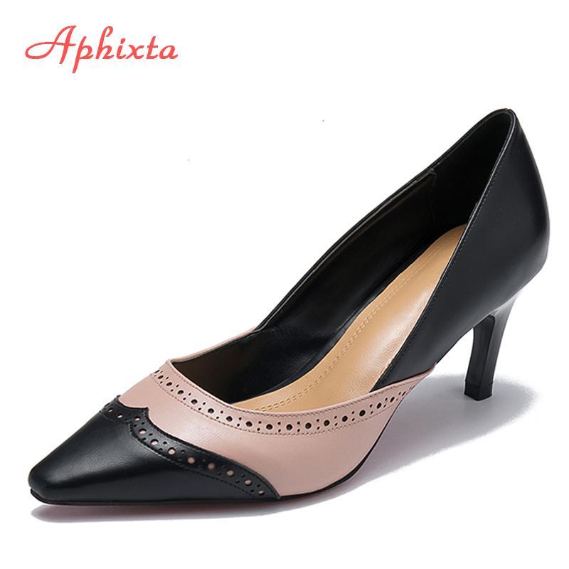 6e02878ee4ee1 Dress Shoes Aphixta Bullock Women Strange Style Heel Pumps Pointed Toe  Wedding Party Derss Lamb Patten Leather Classic Pumps