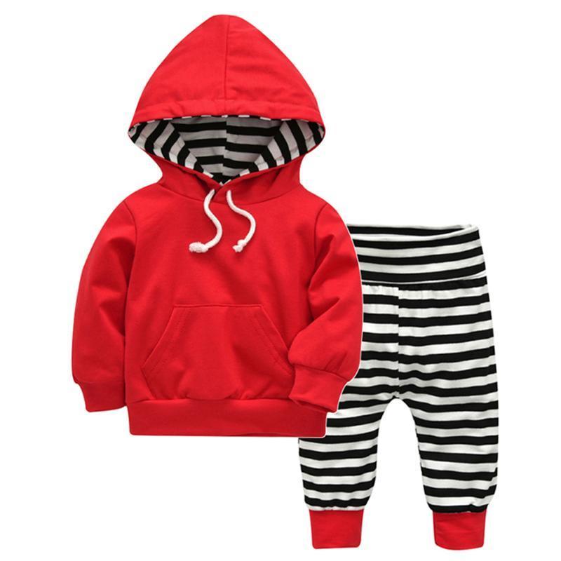 Acquista Felpa Con Cappuccio Bambini Vestiti Lunghi Pantaloni Lunghi Set  Casual Con Coulisse Rossa Tasche Frontali Con Cappuccio Top Outwear  Abbigliamento ... 0a7ec183378