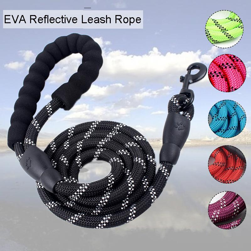 Pet Supplies Dog Leash For Small Large Dogs Leashes Reflective Dog Leash Rope Pets Lead Dog Collar Harness Nylon Running Leashes DBC VT0836