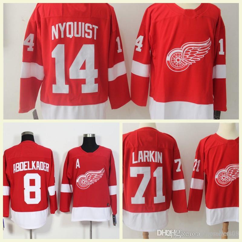 2018 Detroit Red Wings Mens Jerseys 8 Justin Abdelkader 9 Gordie Howe 40  Henrik Zetterberg 19 Steve Yzerman 71 Dylan Larkin Hockey Jersey UK 2019  From ... f3e34ebb6
