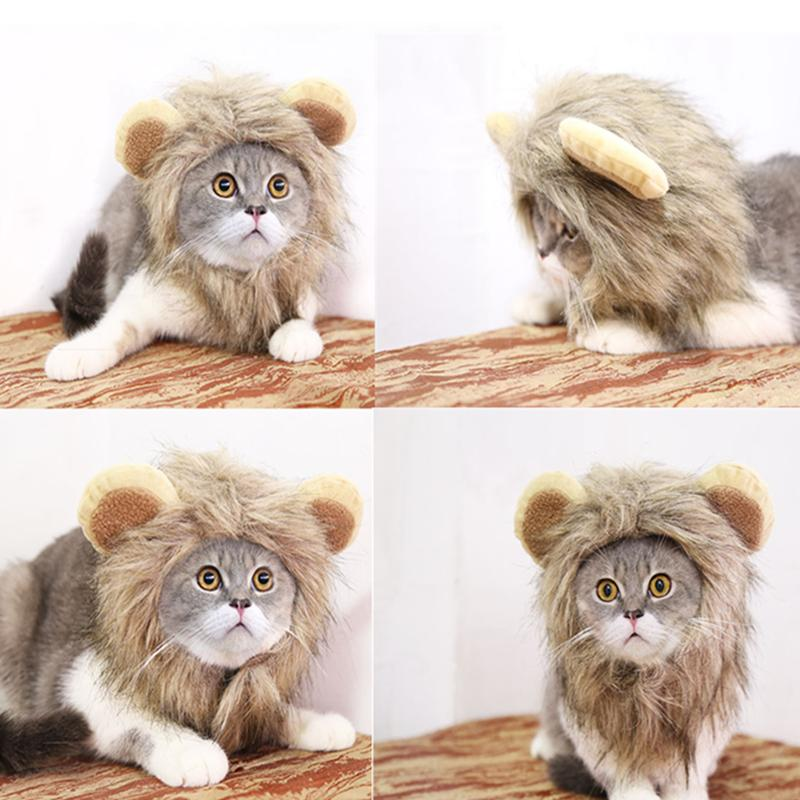 Pet Clothes for Dog Hat For Dogs Christmas Dress Up Lion Mane Wig Dogs Halloween Pet Dog Cat Costume Hat Head Sets Pets