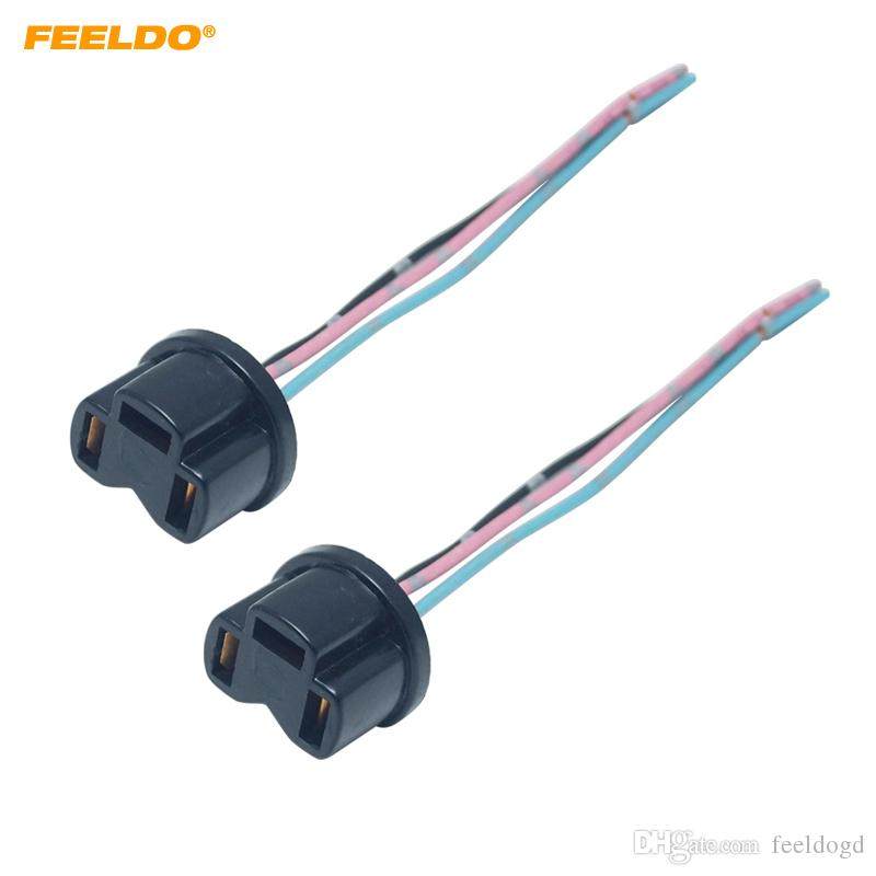 2pcs Auto H4 Halogen Fog Xenon LED Light Plug Adapter Car Wiring Harness Extension H4 Light Sockect Connector #5956