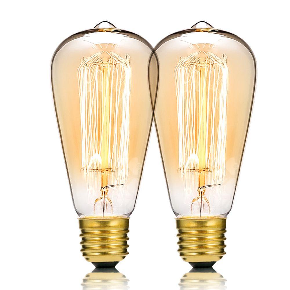 Atmosphère Incandescence Antique Ampoule Pour E27 À Gradation E26 40w Filament Edison Rétro Remplacer Lampe Style L De La 110v Pièce2 CxdBoe