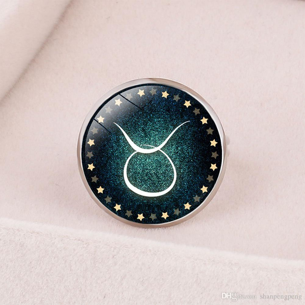Style4 New ` Fashion 12 Constellation Opening Adjustable Children's Ring White Sheep Taurus Gemini Virgin Lion Shooter Aquarius Cancer, Kon