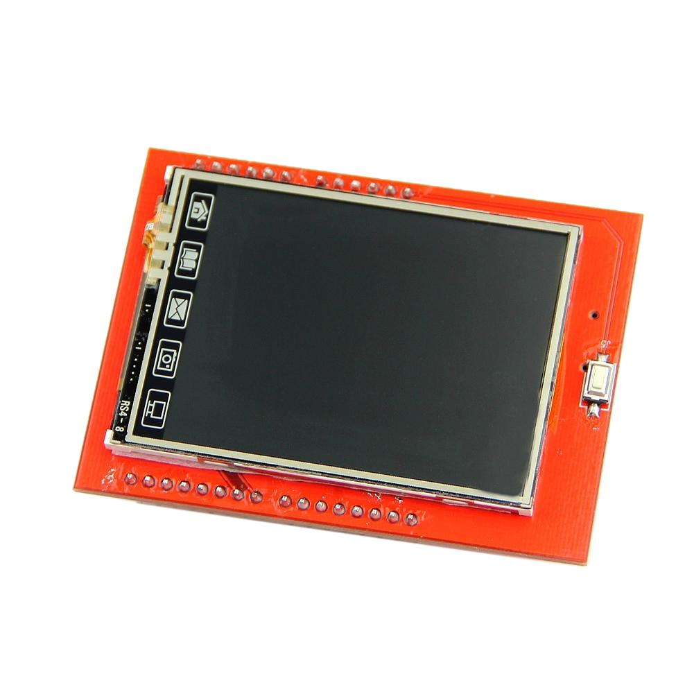 "2.4"" TFT LCD Shield Touch Panel Module TF Reader mini SD For Arduino UNO R3-Hot"