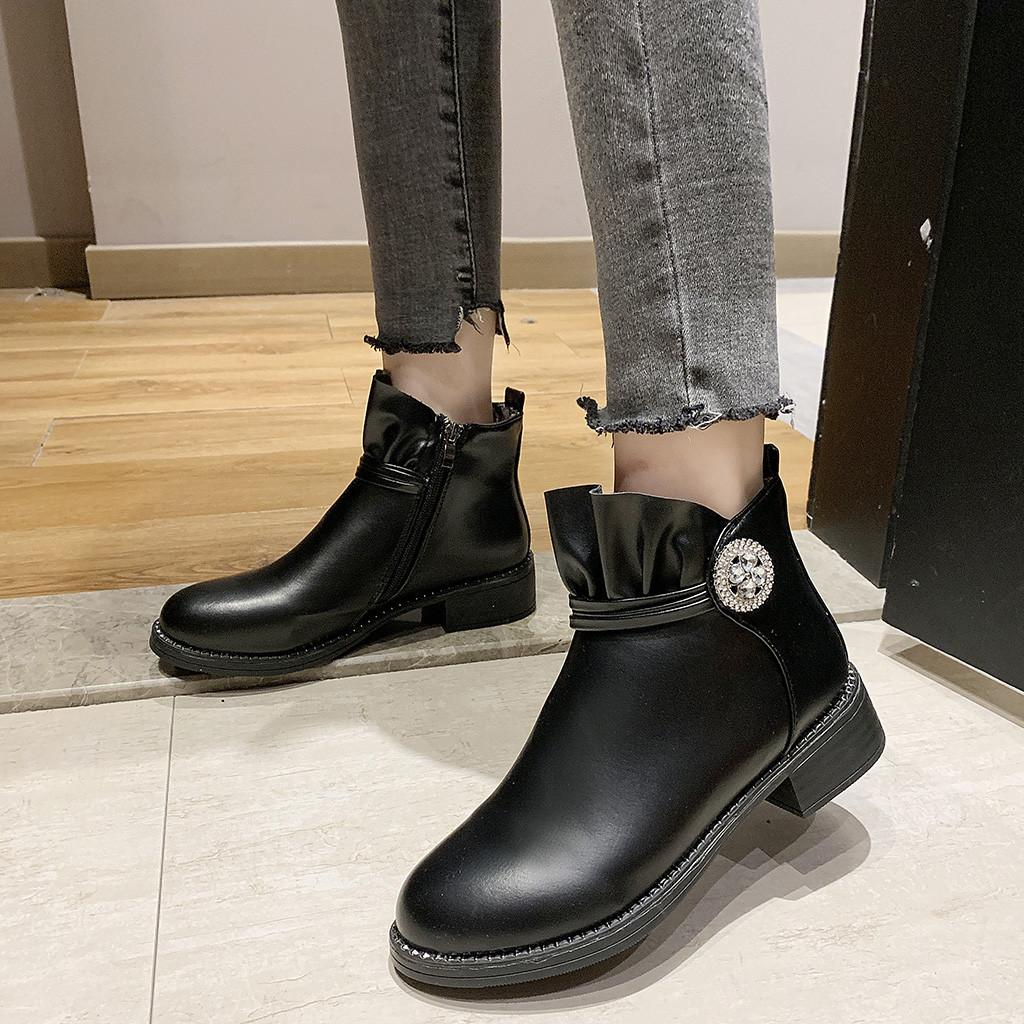 separation shoes 24432 35d4b Stivali Donna Scarpe Donna Moda Tacco alto Stivaletti Donna Piattaforma di  cristallo Scarpe tinta unita bota feminina 2019