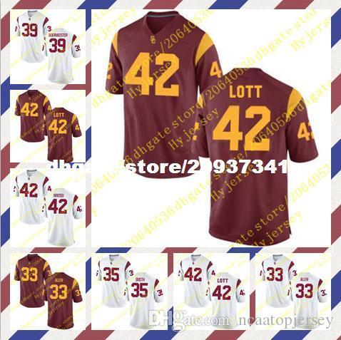 low priced 7304e 5746e Cheap Men's Marcus Allen Jersey Cameron Smith Matt Boermeester Ronnie Lott  Uchenna Nwosu Stitched Red White USC Trojans Football Jersey