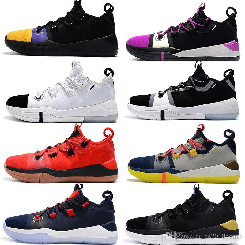 sports shoes 7c57f b38ef 2019 Kobe Bryant AD EP Mamba Day Sail Multicolor Men Basketball Shoes Wolf  Grey Orange Black White Mens Trainers Sports Sneakers Size 40 46 Sneakers  For Men ...
