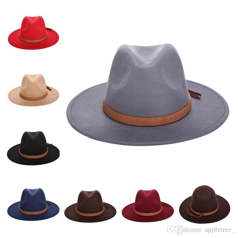 Designer Autumn Winter Jazz hats luxury Sun Hat Women Men Fedora Hat Classical Wide Brim Felt Floppy Panama Cap Chapeau Imitation Wool Cap