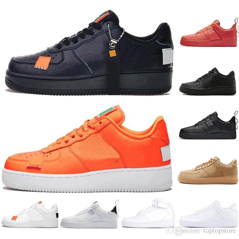 Nike Diseñador Utility Blanco Af1 Solo High Low Negro Cut Hombres Para Running Air Mujeres Entrenadores 1 Trigo Hombre Force Dunk Shoes Naranja bgv6yYf7