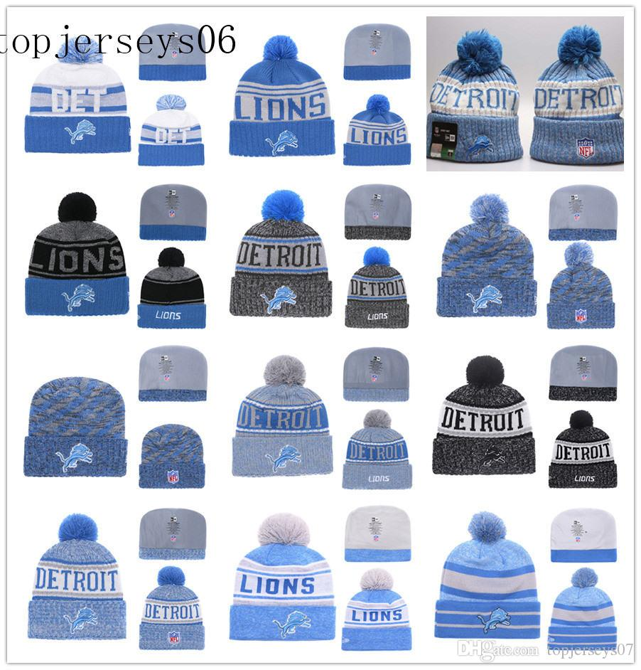 on sale eeb26 b1bbd 2019 New Detroit American Football Cap Lions Era 2018 Sideline Cold Weather  Official Sport Knit Hat Blue From Youyoujersey,  15.08   DHgate.Com
