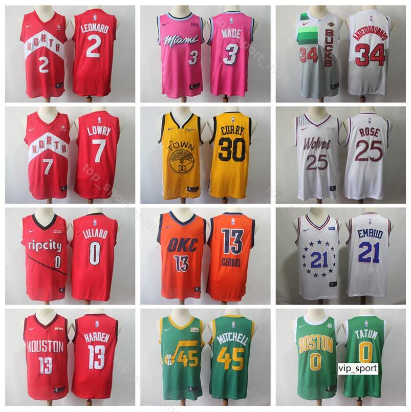 6abd3a5d724 2019 2019 Earned Edition Basketball Jerseys Heat Dwyane Wade Raptors Kawhi  Leonard Kyle Lowry Bucks Giannis Antetokounmpo Men Shirts Uniform From  Vip sport
