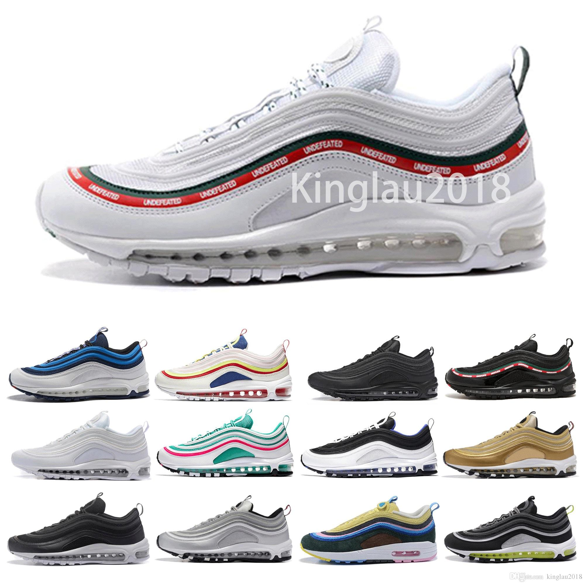 2ba6f6540 97 OG Mens Designer Running Shoes 2019 Women Undefeated Chaussures ...