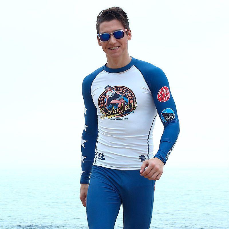 893c9eadc7 2019 Sabolay Rashguard Swim Shirts Surf T Shirt Long Sleeve Swim Top Uv  Swim Shirts Sport Suit Mens Swimwear Pants Surfing Suits From Happy_sport,  ...