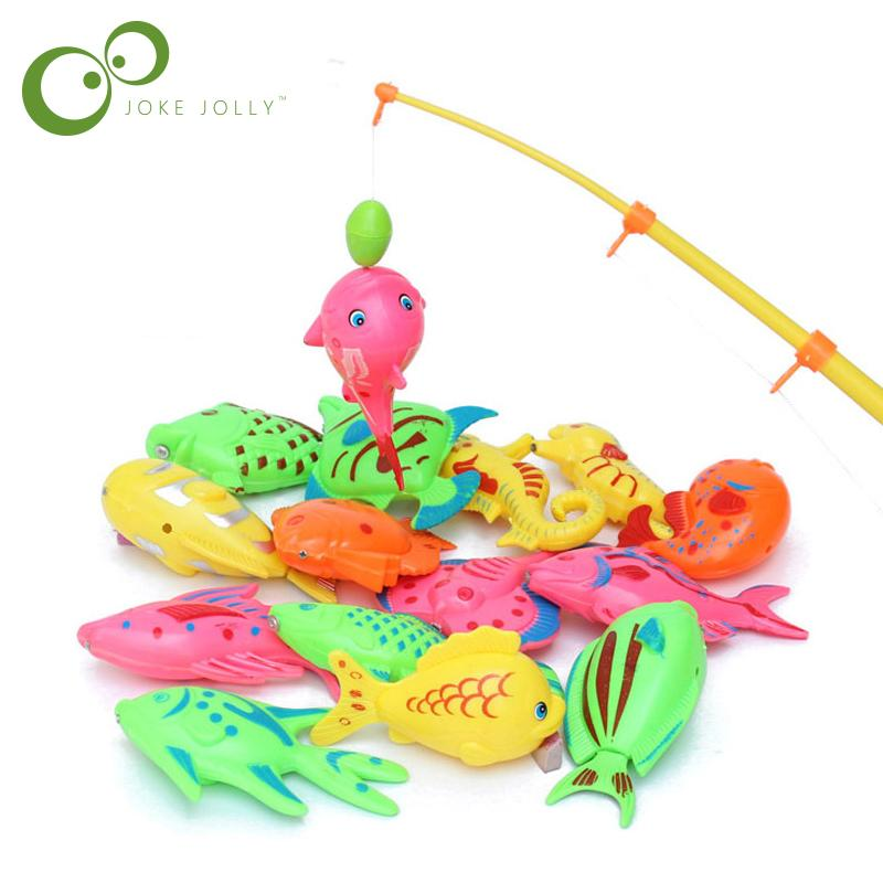 Childrens Outdoor Magnetic Fishing Toys Parent-child Interactive Toy Game Wooden Fish Bath Toys Outdoor Toy 100% High Quality Materials Outdoor Fun & Sports Toys & Hobbies
