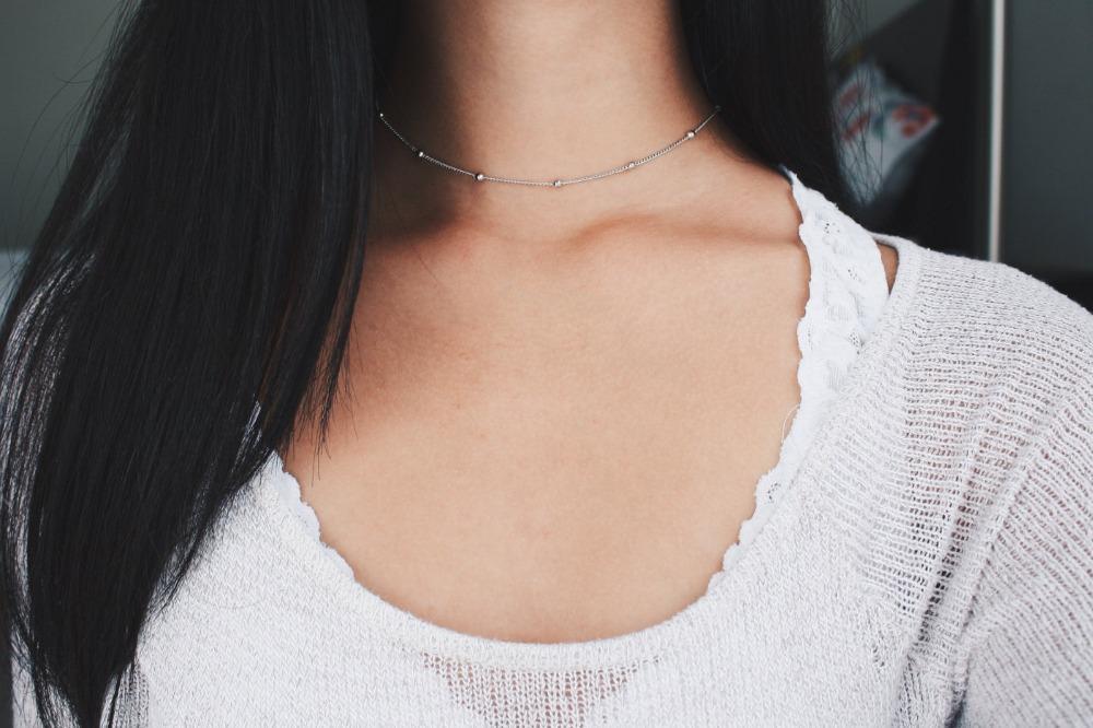 Europäische und amerikanische Mode-Accessoires modischen und kontrahierten feinen Kupferperlen Kupferkette neue Geschenk Halskette