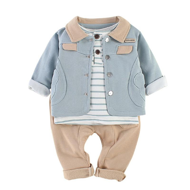 d2c05ce0e 2019 WLG Toddler Girl Clothes Spring Autumn Coat Striped T Shirt And Pant  Set Baby Casual Clothes Kids 9 36 Months From Superbest19, $55.87 |  DHgate.Com