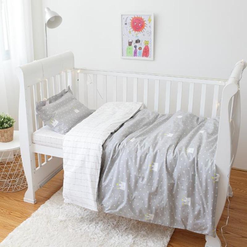 Großhandel 3 Stücke Baby Bett Set 100 Baumwolle Neugeborenen Krippe