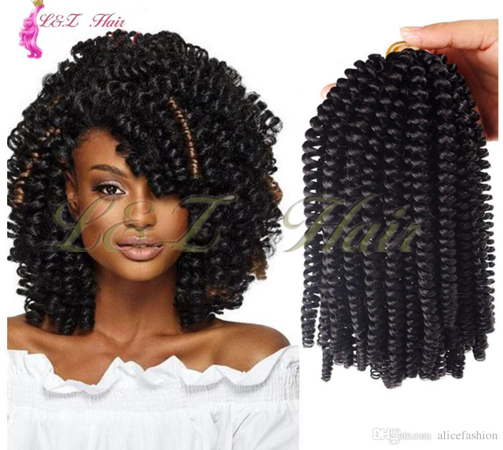 2019 60strands Ombre Crochet Braids Nubian Twist Bounce Kanekalon