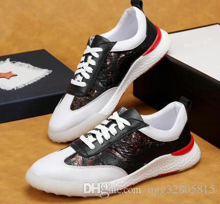 448d1dcb2c69 2018 Men s Designer Luxury Shoes Casual Shoes Two-color Female Sports Shoes  High-quality Embroidery Bee Tiger Dog Side Casual Shoes Online with   83.84 Piece ...