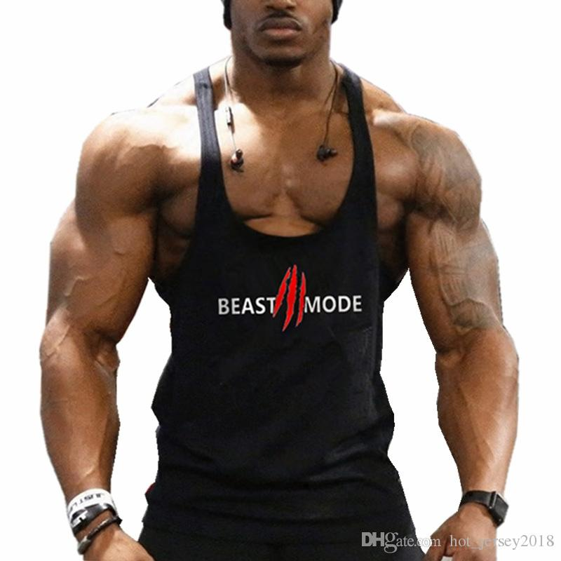 42cb1c14e9bcb 2019 New Arrival Gyms Stringer Tank Top Men Bodybuilding And Fitness Men S  Singlets Tank Top Shirts Gyms Clothes Sportswear Vest  105253 From  Hot jersey2018 ...