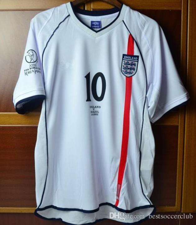b0bdb4d4f 2019 World Cup 2002 Beckham Scholes Owen Soccer Jersey Ronaldo Home White  Away Red 02 Football Shirt Camisa Futebol Camisetas From Bestsoccerclub