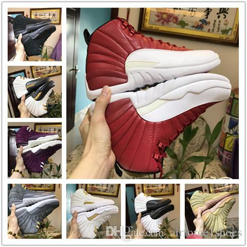 1c435a3c7205 12 Gym Red 12s College Navy Men Basketball Shoes Michigan WINGS Bulls UNC  Flu Game The Master Black White Taxi Sports Trainer Sneakers Sports Shoes  For Girl ...