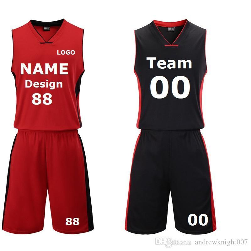 6101c1f1c2 Compre Basquete Personalizado Camisas Com Os Nomes E Números DIY Imprimir  Unisex Basquete Roupas Uniforme DK2020BS De Andrewknight007